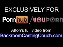 Afton BRCC Anal & Creampie Casting - Volles Video